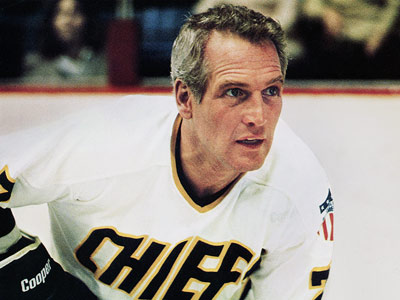 Slap Shot, Paul Newman | Slap Shot (1977) Paul Newman heads an minor league hockey team of foul-mouthed losers, including the goonish Hanson Brothers, in this classic anti-inspirational sports movie…