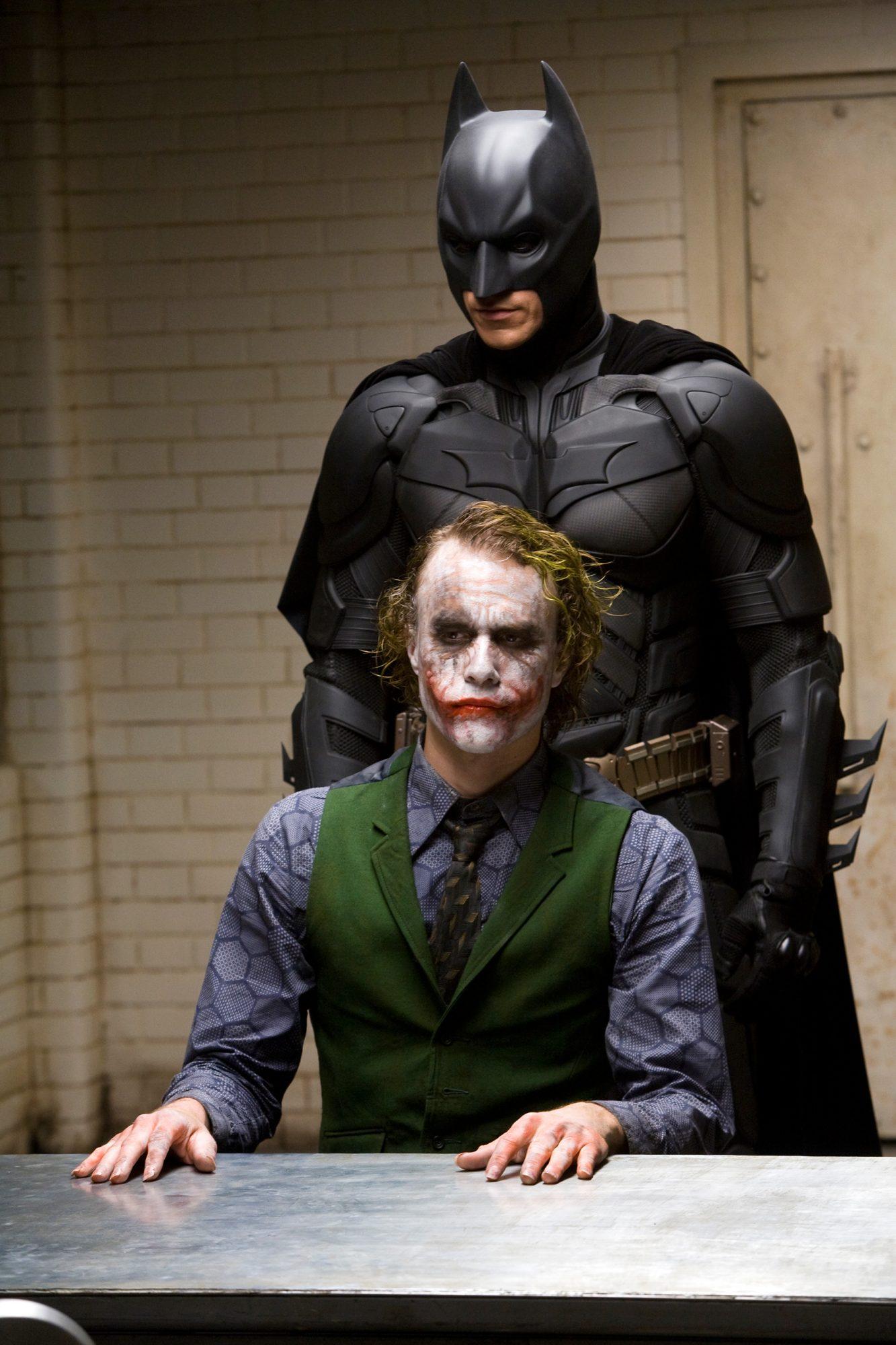 Dark Knight (2008)Heath Ledger (bottom) and Christian Bale