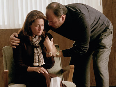 Lorraine Bracco, James Gandolfini, ... | Season 3, episode 4 The esplanade scam. Meadow and Jackie Jr. Johnny Sack's rotund wife. ''EOTM'' was ground zero for so many arcs. But it's…