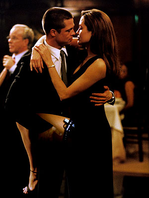 Mr. & Mrs. Smith, Angelina Jolie, ... | BRAD PITT and ANGELINA JOLIE, Mr. and Mrs. Smith (2005) The dueling megastars' white-hot chemistry onscreen apparently led to some offscreen sparks: by the time…