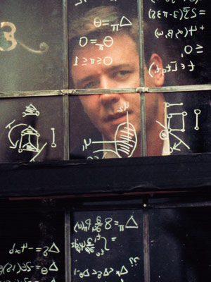 Russell Crowe | Nash's mathematical brilliance was severely hindered by mental illness, and Russell Crowe nailed the confusion and humiliation of a veritable genius bedeviled by the voices…