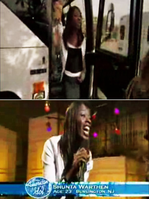 American Idol | Shunta Warthen's cab ride (Season 4) To make it in Hollywood, you've got to be able to take direction. Unfortunately for Shunta Warthen, she hopped…