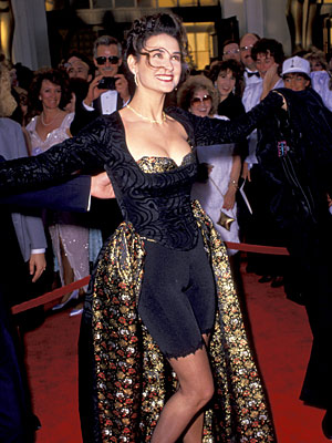 Oscars 1989, Demi Moore | Demi Moore (1989) Going casual doesn't always work, though. Consider this the first commandment of Oscar dressing: No bike shorts on the red carpet. Ever.