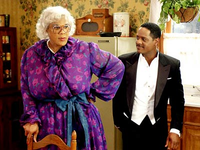 Madea's Family Reunion, Tyler Perry | By just putting on a curly, gray wig and a granny sweater, Perry transformed himself into the feisty Madea Simmons and started a surprising sensation…