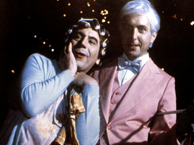 Monty Python's The Meaning of Life, Eric Idle, ... | There's a long, grand tradition of cross-dressing in British drama that goes all the way back to Shakespeare, one this entirely male British comedy troupe…