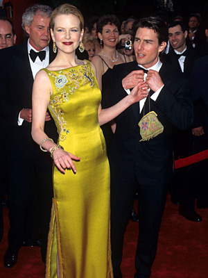 Oscars 1996, Nicole Kidman | Nicole Kidman (1996) It would take quite a dress to upstage Tom Cruise, circa Mission: Impossible . But this chartreuse John Galliano for Dior gown,…