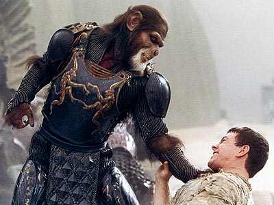 Mark Wahlberg, Planet of the Apes (Movie - 2001) | Tim Burton seriously misfired with this adaptation of the Pierre Boulle novel, which has Mark Wahlberg battling totally fake-looking chimps (including Tim Roth). Stick to…