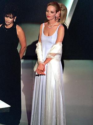Oscars 1995, Uma Thurman | Uma Thurman (1995) Can you remember back to a time when no one — not even the devil — wore Prada? It was the Pulp…