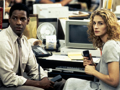 Julia Roberts, Denzel Washington, ... | Sadly, this environmental/legal thriller (based on a John Grisham novel) isn't about an unorthodox firm made up of diploma-wielding pelicans. Julia Roberts (as a law…