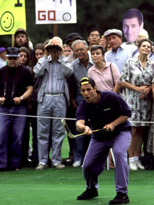 Happy Gilmore, Adam Sandler | Happy Gilmore (1996) True, golf is not actually a winter sport. (Unless you're a masochist. And really, you have to be to play golf.) But…