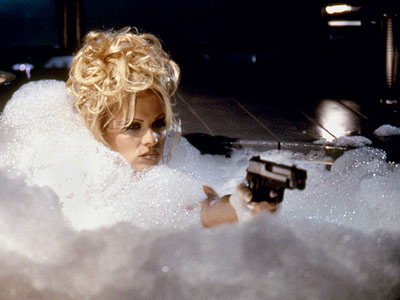 Pamela Anderson, Barb Wire | If you look closely, you'll see that this Pamela Anderson Lee (yes, this was during ''The T-Bone Years'') disaster has pretty much the same plot…