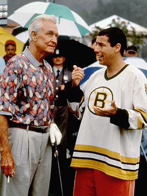 Happy Gilmore, Adam Sandler, ... | Happy Gilmore (1996) The Price is Right host sparred with Happy (Adam Sandler), his charity golf partner, and capped their violent showdown (heh!) with the…