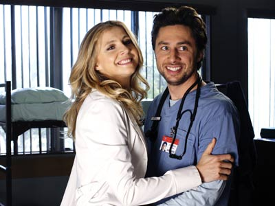 Zach Braff, Sarah Chalke, ... | Scrubs (2001-2010) It took only 15 episodes for J.D. and Elliot to hop in bed together. It would be over 100 more before they finally…