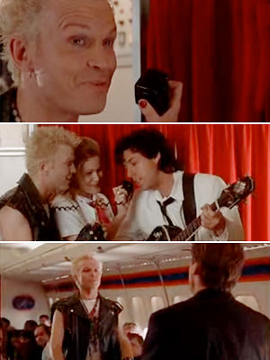 The Wedding Singer, Billy Idol | The Wedding Singer (1998) Who knew the hard-edged, '80s punk rocker was such a hopeless romantic? In the 1998 comedy, Idol helped Robbie (Adam Sandler)…