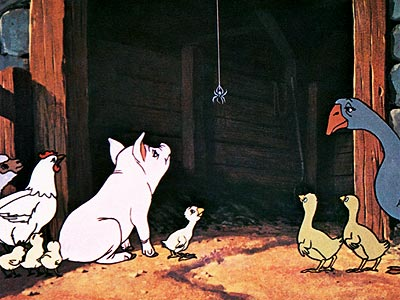 Charlotte's Web | Wilbur leads a pretty good life for a pig. He's saved from the butcher's block by a friendly, incredibly literate spider named Charlotte who spells…