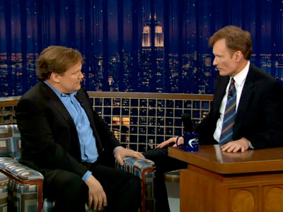 Andy Richter, Conan O'Brien, ... | Nothing was quite as randomly bizarre as the staring contests Conan would hold with his once-and-future sidekick, Andy Richter.