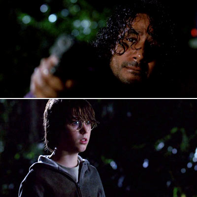 Naveen Andrews, Lost (Season 5 -- Episode 10: He's Our You) | THE NUTSHELL: Flashbacks reveal that during the O6's off-Island days, Ben exploited Sayid's skill for killing, his grief over Nadia's murder, and his weakness for…