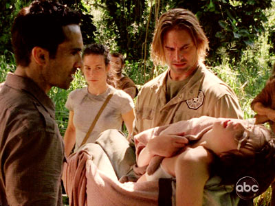 Josh Holloway, Evangeline Lilly, ... | THE NUTSHELL: Flashbacks reveal how Kate fulfilled Sawyer's request that she take care of his daughter, and that she gave up Baby Aaron to Claire's…