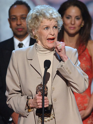 Elaine Stritch, Tony Awards 2002 | ELAINE STRITCH FINALLY WINS, ONLY TO BE CUT OFF MID-SPEECH (2002) This self-proclaimed ''existential problem in tights'' finally captured Tony glory (after nearly 60 years…