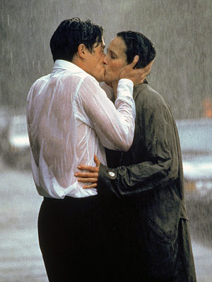 Four Weddings and a Funeral | Kissing, fighting, serenading... You name it; everything is sexier in the rain. EXAMPLE: When Carrie (Andie MacDowell) shows up at Charles' (Hugh Grant) house sopping…