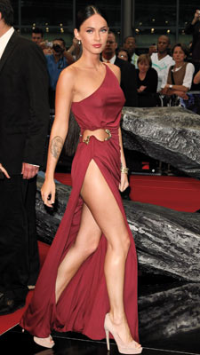 Megan Fox | Since there really isn't enough dress to judge, Fox's Roberto Cavalli earns an INCOMPLETE .
