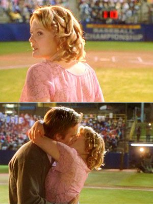 Never Been Kissed, Drew Barrymore | In a romantic comedy, love isn't true unless it's professed in front of a group of people...the bigger the better. EXAMPLE: In Never Been Kissed…