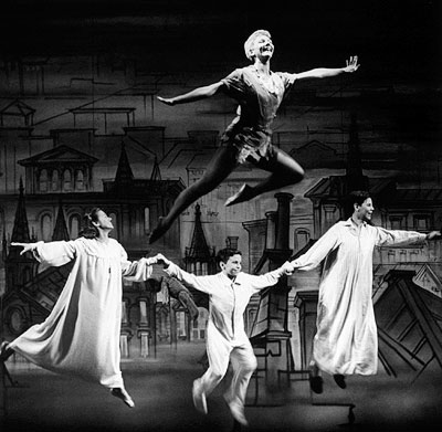 Mary Martin | MARY MARTIN WINS FOR PETER PAN , BECOMING THE FIRST OF ONLY TWO HONOREES EVER TO RECEIVE A TONY FOR PLAYING THE OPPOSITE SEX (1955)…