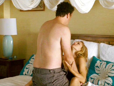 Forgetting Sarah Marshall, Jason Segel | The guy has been drooling over the girl since the opening credits, and now she's drunk/angry/insane and throwing herself at him. But he just...can't....do it.…