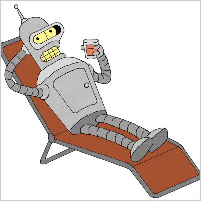 Futurama | Sidekick to: Fry Futurama (1999-2013) Sure, a selfish, larcenous, beer-swilling robot whose catchphrase is ''Bite my shiny metal ass'' might not seem the optimal friend…