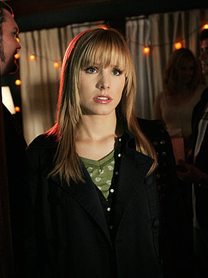 Veronica Mars   ''It's all fun and games 'til one of you gets my foot up your ass.'' Veronica (Kristen Bell), Veronica Mars Submitted by Anthony