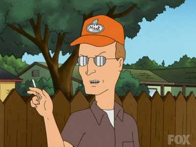 King of the Hill | Dale's screwy plan to sue the cigarette company to get his wife the face-lift she wanted. I still love how he gives a two-sided monologue…