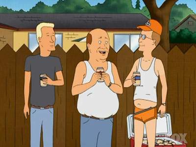 King of the Hill | When Bill, then Boomhauer, then Dale end up in the same mental institution. Great series. — Rica