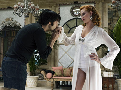 Stephen Moyer, Evan Rachel Wood, ... | Episode 11, ''Frenzy'' After feasting on a willing female vampire, Evan Rachel Wood's Vampire Queen listened to the visiting Bill while playing a hot game…