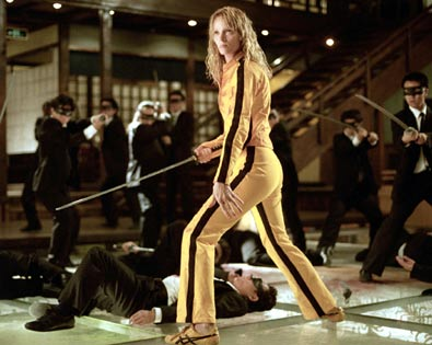 Uma Thurman, Kill Bill -- Vol. 1 | NO. 3: UMA THURMAN as the Bride in Kill Bill — Vol. 1 (2003) and Kill Bill — Vol. 2 (2004) WHO IS SHE? She's…