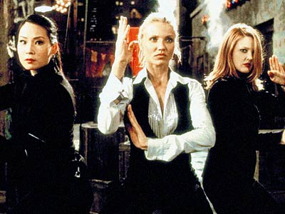 Lucy Liu, Cameron Diaz, ... | NO. 20: LUCY LIU, CAMERON DIAZ, AND DREW BARRYMORE as Alex Munday, Natalie Cook, and Dylan Sanders in Charlie's Angels (2000) and Charlie's Angels: Full…