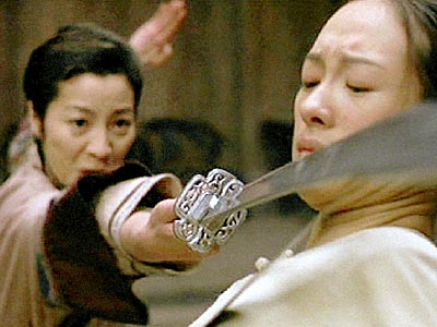 Ziyi Zhang, Michelle Yeoh, ... | NO. 4: MICHELLE YEOH AND ZHANG ZIYI as Yu Shu Lien (Yeoh, left) and Jen Yu (Zhang, right) in Crouching Tiger, Hidden Dragon (2000) WHO…
