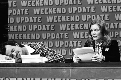 Bill Murray, Jane Curtin, ...   Remember when we said ''baby bro didn't fare too well as a fake newsman either''? Totally true.