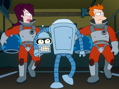 Futurama | The Simpsons plus sci-fi? This combo is more alluring to a geek than watching a Twilight Zone marathon on whippets. With the adventures of Fry,…