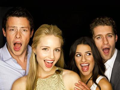 Lea Michele, Matthew Morrison | CORY MONTEITH, DIANNA AGRON, LEA MICHELE, AND MATTHEW MORRISON, Glee