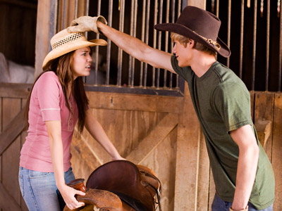 Miley Cyrus, Hannah Montana: The Movie | There is at least one hunky cowboy in every small town. ( Hannah Montana )