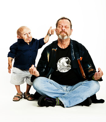 Verne Troyer, Terry Gilliam | VERNE TROYER AND DIRECTOR TERRY GILLIAM, The Imaginarium of Doctor Parnassus