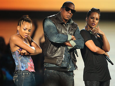 Jay-Z, Lil' Mama | One false note in Jay-Z and Alicia Keys' ''Empire State of Mind'' performance came when sometime rapper/ America's Best Dance Crew judge Lil Mama spontaneously…