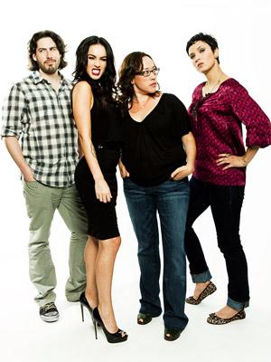 Megan Fox, Diablo Cody, ... | PRODUCER JASON REITMAN, MEGAN FOX, DIRECTOR KARYN KUSAMA, AND WRITER DIABLO CODY, Jennifer's Body