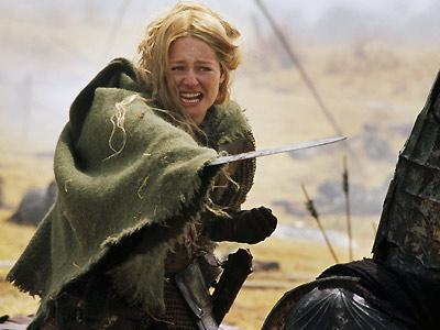 Miranda Otto, The Lord of the Rings: The Return of the King | NO. 18: MIRANDA OTTO as Eowyn in The Lord of the Rings: The Return of the King (2003) WHO IS SHE? The niece of King…