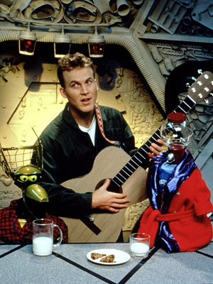 Mystery Science Theater 3000 | (1988-1999, Comedy Central, Sci Fi) Premise: Crow T. Robot was made of a lacrosse facemask, a plastic bowling pin, and a soap dish. Tom Servo's…