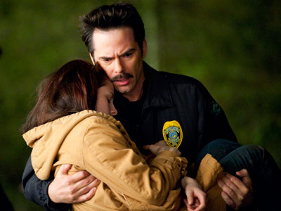 The Twilight Saga: New Moon | Chief Swan (Billy Burke) tends to Bella (Kristen Stewart) after Edward leaves. I guess this answers the question posed by the old song, ''What becomes…