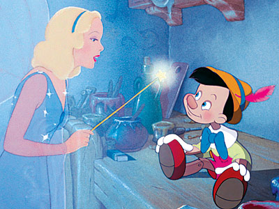 Pinocchio | This isn't the first Disney animated feature — that'd be 1939's Snow White and the Seven Dwarfs — but the story of a puppeteer who…