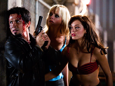 Grindhouse, Planet Terror, ... | Robert Rodriguez's half of Grindhouse concerns a biochemical gas which, per the film's shlock-tastic trailer, has the side effect of ''terror!'' Well, that and turning…