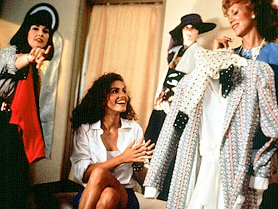 Pretty Woman, Julia Roberts | It's the movie that contains everyone's favorite Beverly Hills shopping spree montage. Julia Roberts get to try on great clothes, there's plenty of obsequious sucking…