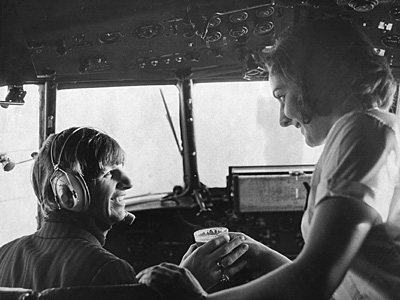 Ringo Starr | Ringo in the cockpit of a Viking plane in 1963
